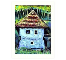 The Old House with a Face Art Print