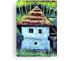The Old House with a Face Canvas Print
