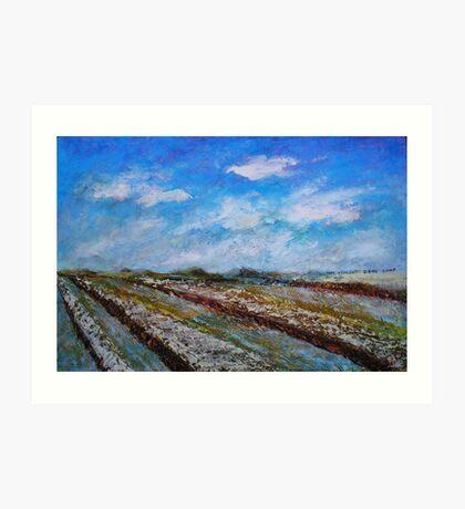 The Fields in the November Morning Art Print