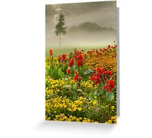 James Garden Sunrise Greeting Card