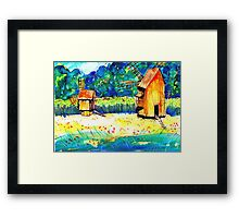 Windmills from Transylvania Framed Print