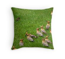 Little bird lost in the world Throw Pillow