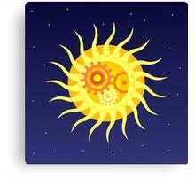 Mechanic Sun Canvas Print