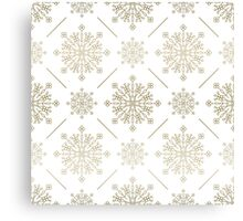 Gold Tones Abstract SnowFlakes Pattern Canvas Print