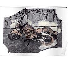 Collage Motorbike Poster