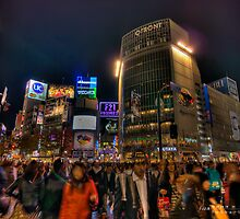 the Pedestrian crossing at Shibuya by yatharth