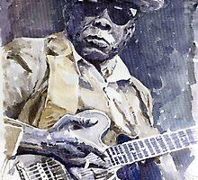 Bluesman John Lee Hooker 3 by Yuriy Shevchuk