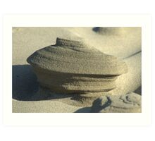Wind Blown Sand Sculpture Art Print