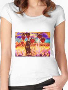 Jamaican Sisters T-Shirt Women's Fitted Scoop T-Shirt