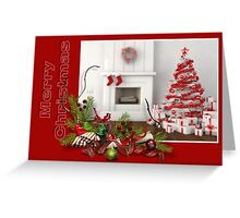 Very RED Merry Christmas Greeting Card