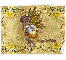 Happy Birthday (Golden Fairy) Poster