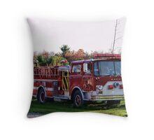 The old firetruck Throw Pillow