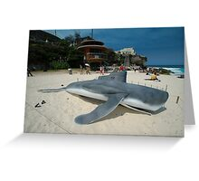 Beached Submarine Life @ Sculptures By The Sea Greeting Card
