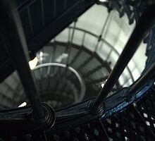 Spiral Staircase of Yaquina Bay Lighthouse by Katt Stevens