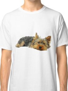 Cute Yorkshire terrier Classic T-Shirt