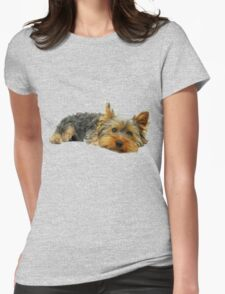 Cute Yorkshire terrier Womens Fitted T-Shirt