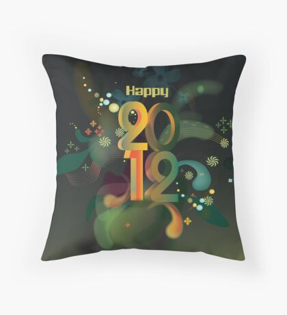 Year 2012 graphic Throw Pillow