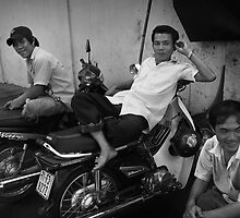 Moto-Men - Saigon, Vietnam by Alex Zuccarelli