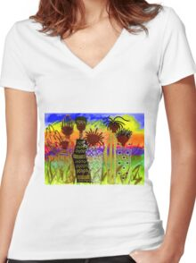 Rainbow Sisters T-Shirt Women's Fitted V-Neck T-Shirt