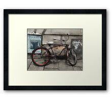 Getting Around Town Framed Print
