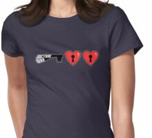 The Key to My Heart - Dr Who (Double Heart) Womens Fitted T-Shirt