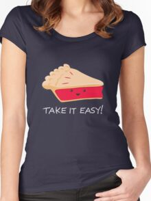 A slice of advice! Women's Fitted Scoop T-Shirt