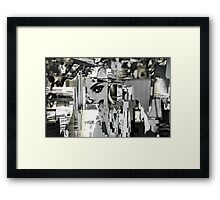 industrial sex addiction Framed Print