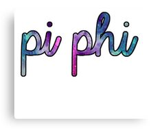 Pi Phi Galaxy Canvas Print