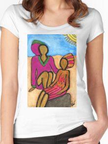 Sun Sistahs T-Shirt Women's Fitted Scoop T-Shirt