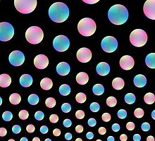 Blue and Pink Bubble Fountain by Objowl