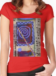 The Spiral Pane T-Shirt Women's Fitted Scoop T-Shirt