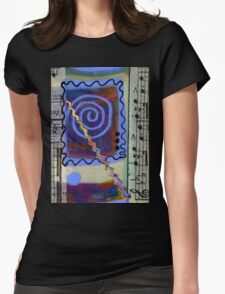 The Spiral Pane T-Shirt Womens Fitted T-Shirt