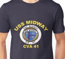 USS Midway (CVB/CVA/CV-41) Crest for Dark Unisex T-Shirt