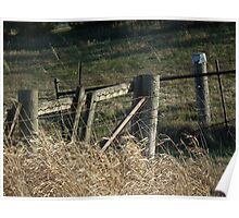 Fence and Gate to Rye Field Poster