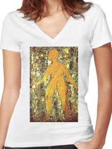 """Unadorned"" T-Shirt Women's Fitted V-Neck T-Shirt"