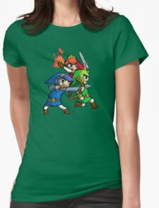 Triforce Heroes Legend of Zelda Womens Fitted T-Shirt