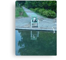 Moo Moo Hanging Out at the Pool Canvas Print