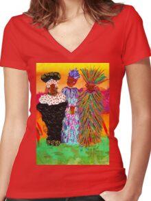 We Women Folks T-Shirt Women's Fitted V-Neck T-Shirt