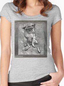 Pug in Carbonite Women's Fitted Scoop T-Shirt