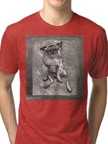 Pug in Carbonite Tri-blend T-Shirt