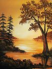 Acrylic - Golden Sunset by teresa731