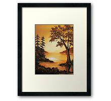 Acrylic - Golden Sunset Framed Print