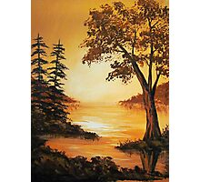 Acrylic - Golden Sunset Photographic Print