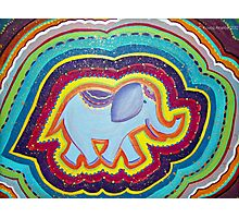 Elephant Dreams Original Painting ~ Rainbow Blossom Photographic Print