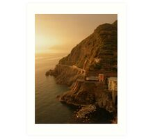 Sunset Over Riomaggiore Art Print
