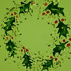 Green Xmas wreath by Elizabeth Moore Golding