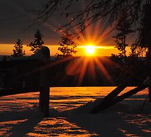 Winter Sunset by Chad M