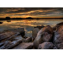 Sundown on the Rocks Photographic Print