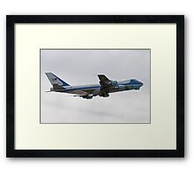 92-9000 Air Force One side shot Framed Print