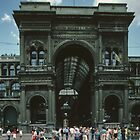 Covered arcade near Duomo Milan Italy 19840704 0004   by Fred Mitchell